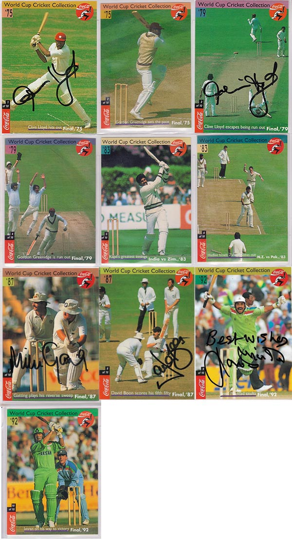 Coca Cola 1996 World Cup Cricket Collection (10)