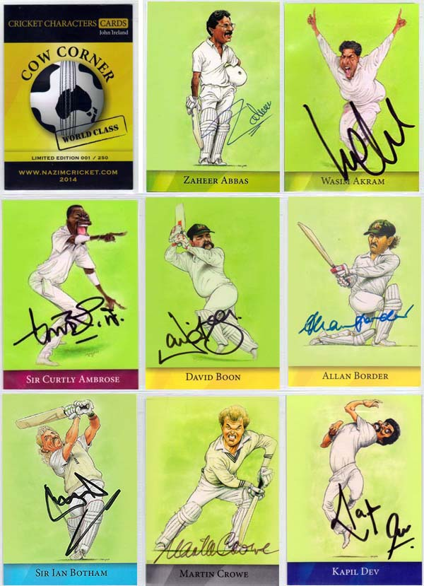 Cow Corner 2014 Cricket Characters Cards John Ireland - World Class (36)