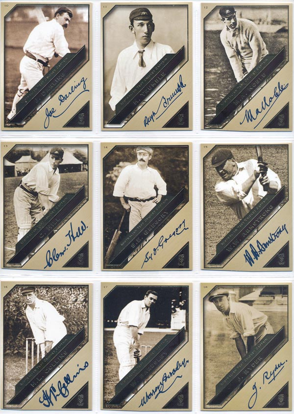 SEP 2011 Heritage Series Test Cricket Captains - Facsimile Set (44)