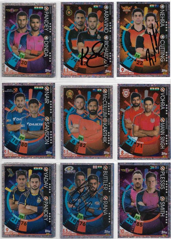 Topps 2017 Cricket Attax IPL (221) + Specials