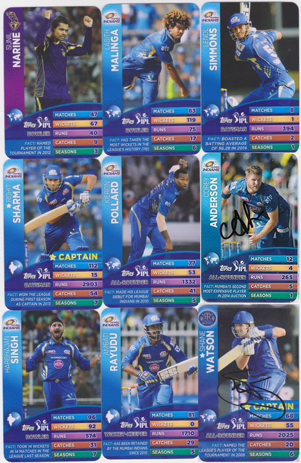 Topps 2015 IPL Battle Trump Card Game (57)