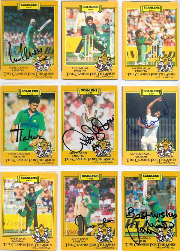 Scanlens 1986-87 Clashes For The Ashes Aust/Pak/Eng (66)