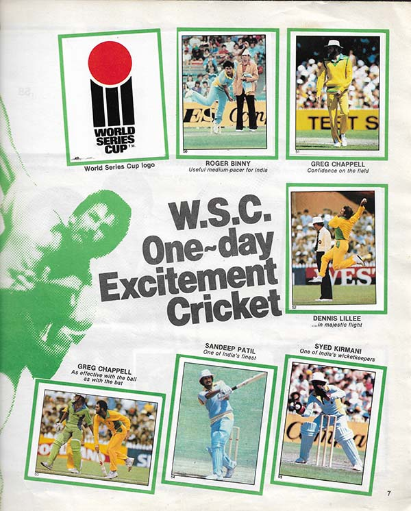 Scanlens 1982-83 Stickers (172)