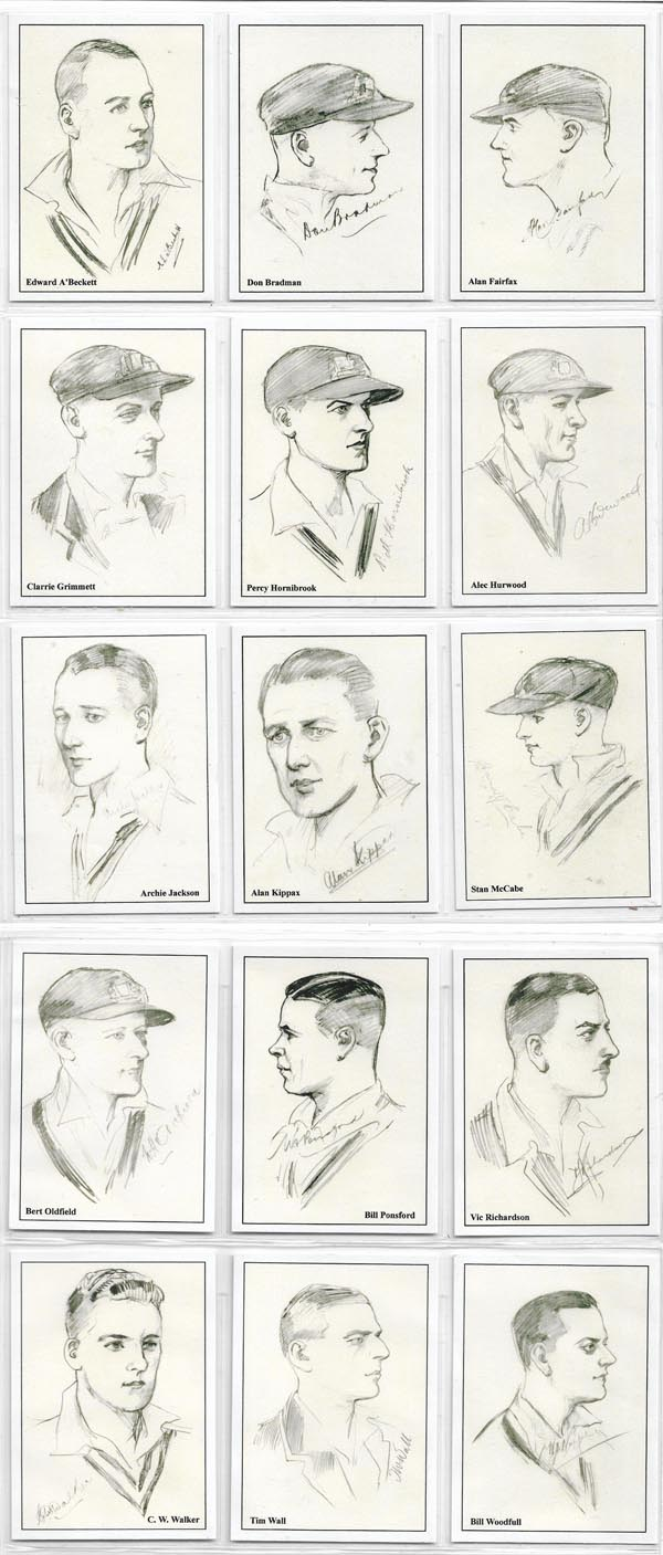 Sporting Collectibles Australian 1930 Cricketers (15)