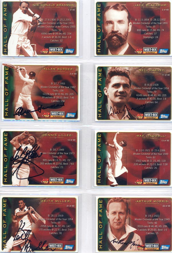 Weetbix 2002 Australian Champion Cricketers Past & Present (30) D/S