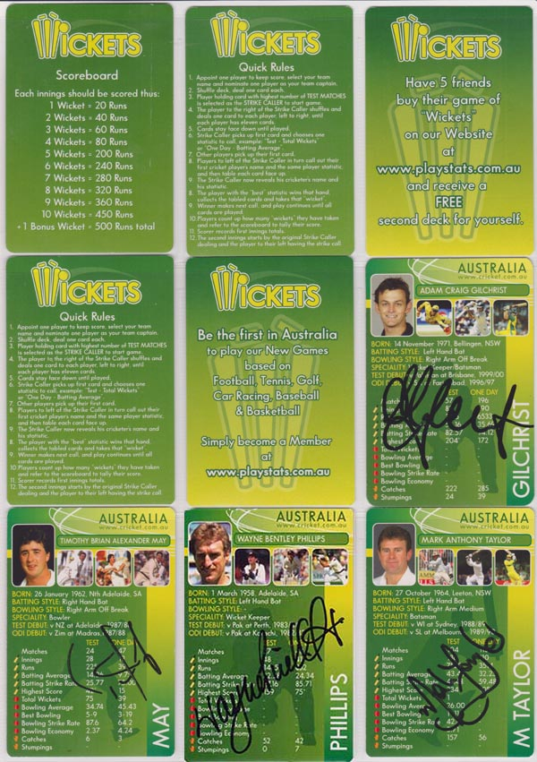 Wickets 2004 Card Game (50)
