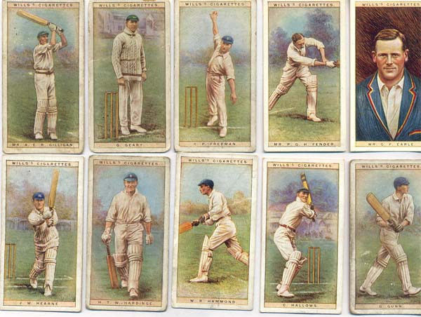 W.D. & H.O. Wills 1928 Cricketers Series 1 (50)