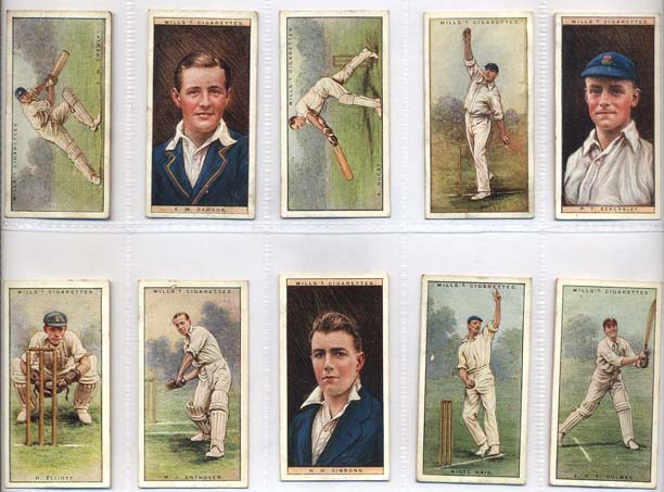 W.D. & H.O. Wills 1928 Cricketers Series 2 (50)